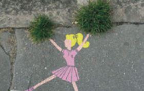 Street art aux couleurs de la nature